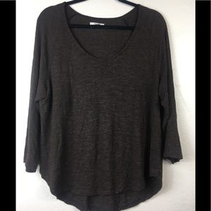 Madewell brown  blouse size XL